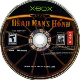 Artwork on the CD for Dead Man's Hand on the Microsoft Xbox.