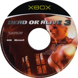 Artwork on the CD for Dead or Alive 3 on the Microsoft Xbox.