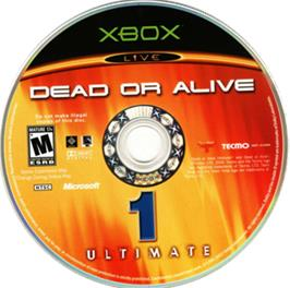 Artwork on the CD for Dead or Alive Ultimate on the Microsoft Xbox.
