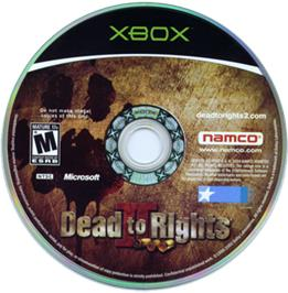 Artwork on the CD for Dead to Rights 2 on the Microsoft Xbox.