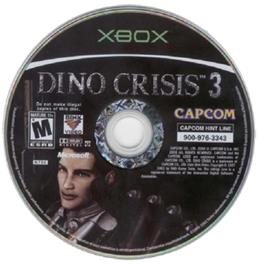 Artwork on the CD for Dino Crisis 3 on the Microsoft Xbox.