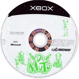 Artwork on the CD for Dr. Muto on the Microsoft Xbox.