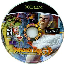 Artwork on the CD for Dragon's Lair 3D: Return to the Lair on the Microsoft Xbox.