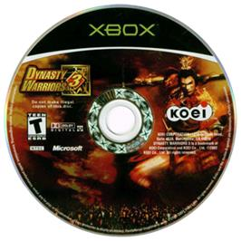 Artwork on the CD for Dynasty Warriors 3 on the Microsoft Xbox.