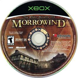 Artwork on the CD for Elder Scrolls III: Morrowind (Game of the Year Edition) on the Microsoft Xbox.