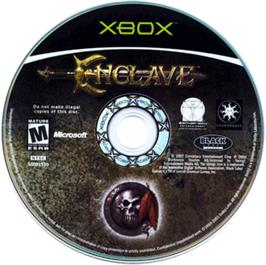 Artwork on the CD for Enclave on the Microsoft Xbox.