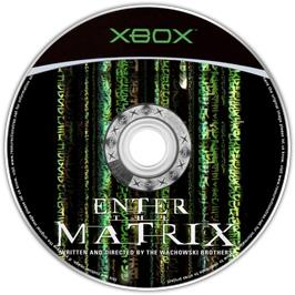 Artwork on the CD for Enter the Matrix on the Microsoft Xbox.