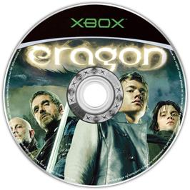 Artwork on the CD for Eragon on the Microsoft Xbox.
