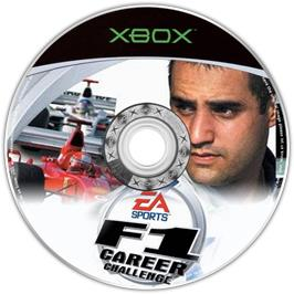 Artwork on the CD for F1 Career Challenge on the Microsoft Xbox.
