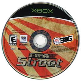 Artwork on the CD for FIFA Street on the Microsoft Xbox.