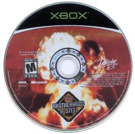 Artwork on the CD for Fallout: Brotherhood of Steel on the Microsoft Xbox.