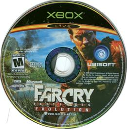 Artwork on the CD for Far Cry: Instincts - Evolution on the Microsoft Xbox.