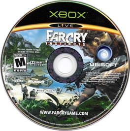 Artwork on the CD for Far Cry: Instincts on the Microsoft Xbox.