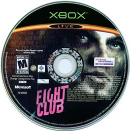 Artwork on the CD for Fight Club on the Microsoft Xbox.