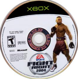 Artwork on the CD for Fight Night 2004 on the Microsoft Xbox.