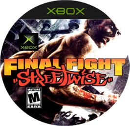 Artwork on the CD for Final Fight: Streetwise on the Microsoft Xbox.