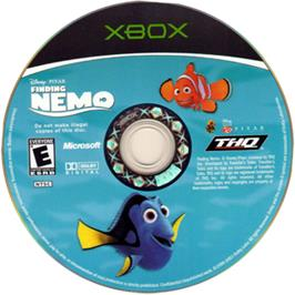 Artwork on the CD for Finding Nemo on the Microsoft Xbox.