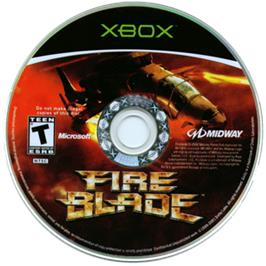 Artwork on the CD for Fireblade on the Microsoft Xbox.