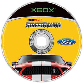 Artwork on the CD for Ford Bold Moves Street Racing on the Microsoft Xbox.