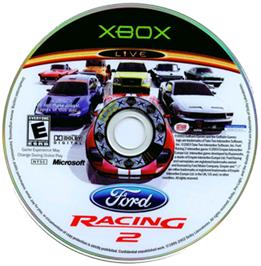 Artwork on the CD for Ford Racing 2 on the Microsoft Xbox.