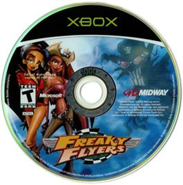 Artwork on the CD for Freaky Flyers on the Microsoft Xbox.