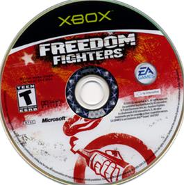 Artwork on the CD for Freedom Fighters on the Microsoft Xbox.
