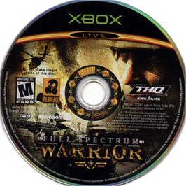 Artwork on the CD for Full Spectrum Warrior on the Microsoft Xbox.