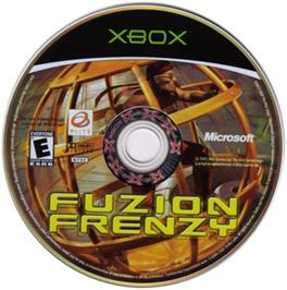 Artwork on the CD for Fuzion Frenzy on the Microsoft Xbox.