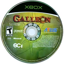 Artwork on the CD for Galleon on the Microsoft Xbox.