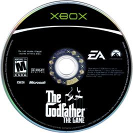Artwork on the CD for Godfather: The Game on the Microsoft Xbox.