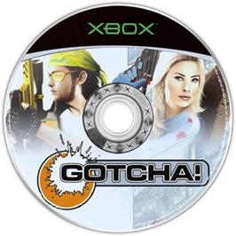 Artwork on the CD for Gotcha on the Microsoft Xbox.