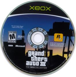 Artwork on the CD for Grand Theft Auto Double Pack on the Microsoft Xbox.