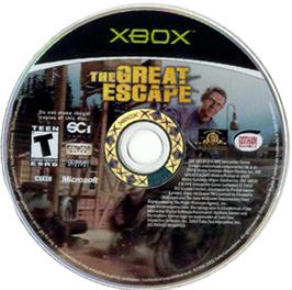 Artwork on the CD for Great Escape on the Microsoft Xbox.