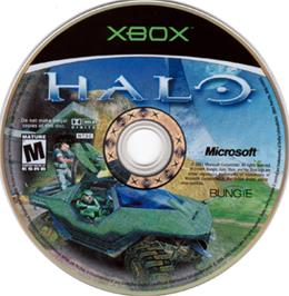 Artwork on the CD for Halo: Combat Evolved on the Microsoft Xbox.