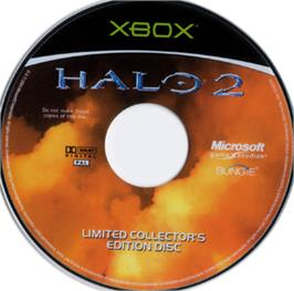 Artwork on the CD for Halo 2 on the Microsoft Xbox.