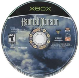 Artwork on the CD for Haunted Mansion on the Microsoft Xbox.