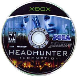Artwork on the CD for Headhunter: Redemption on the Microsoft Xbox.