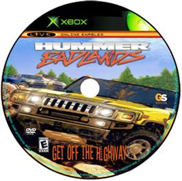 Artwork on the CD for Hummer: Badlands on the Microsoft Xbox.