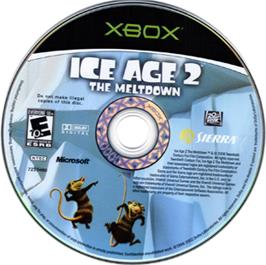 Artwork on the CD for Ice Age 2: The Meltdown on the Microsoft Xbox.