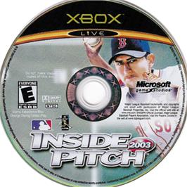 Artwork on the CD for Inside Pitch 2003 on the Microsoft Xbox.