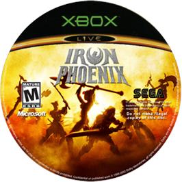 Artwork on the CD for Iron Phoenix on the Microsoft Xbox.