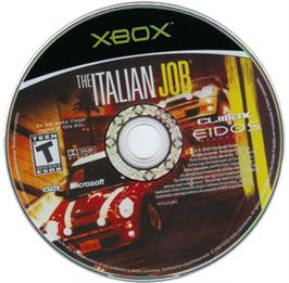 Artwork on the CD for Italian Job on the Microsoft Xbox.