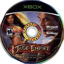 Artwork on the CD for Jade Empire on the Microsoft Xbox.