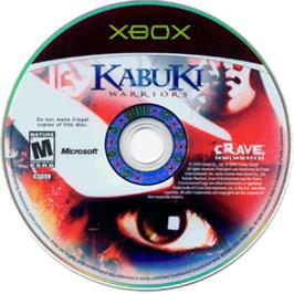 Artwork on the CD for Kabuki Warriors on the Microsoft Xbox.