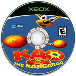 Artwork on the CD for Kao the Kangaroo Round 2 on the Microsoft Xbox.