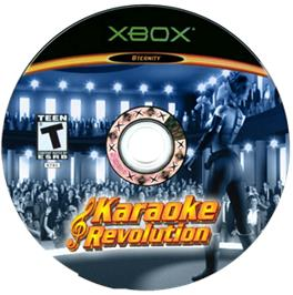 Artwork on the CD for Karaoke Revolution on the Microsoft Xbox.