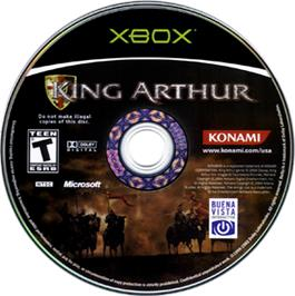 Artwork on the CD for King Arthur on the Microsoft Xbox.