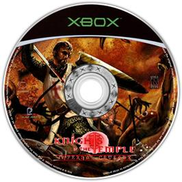 Artwork on the CD for Knights of the Temple 2 on the Microsoft Xbox.