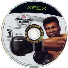 Artwork on the CD for Knockout Kings 2002 on the Microsoft Xbox.