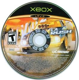 Artwork on the CD for LA Rush on the Microsoft Xbox.